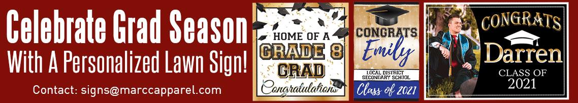 Celebrate Grad Season with a Personalized Lawn Sign