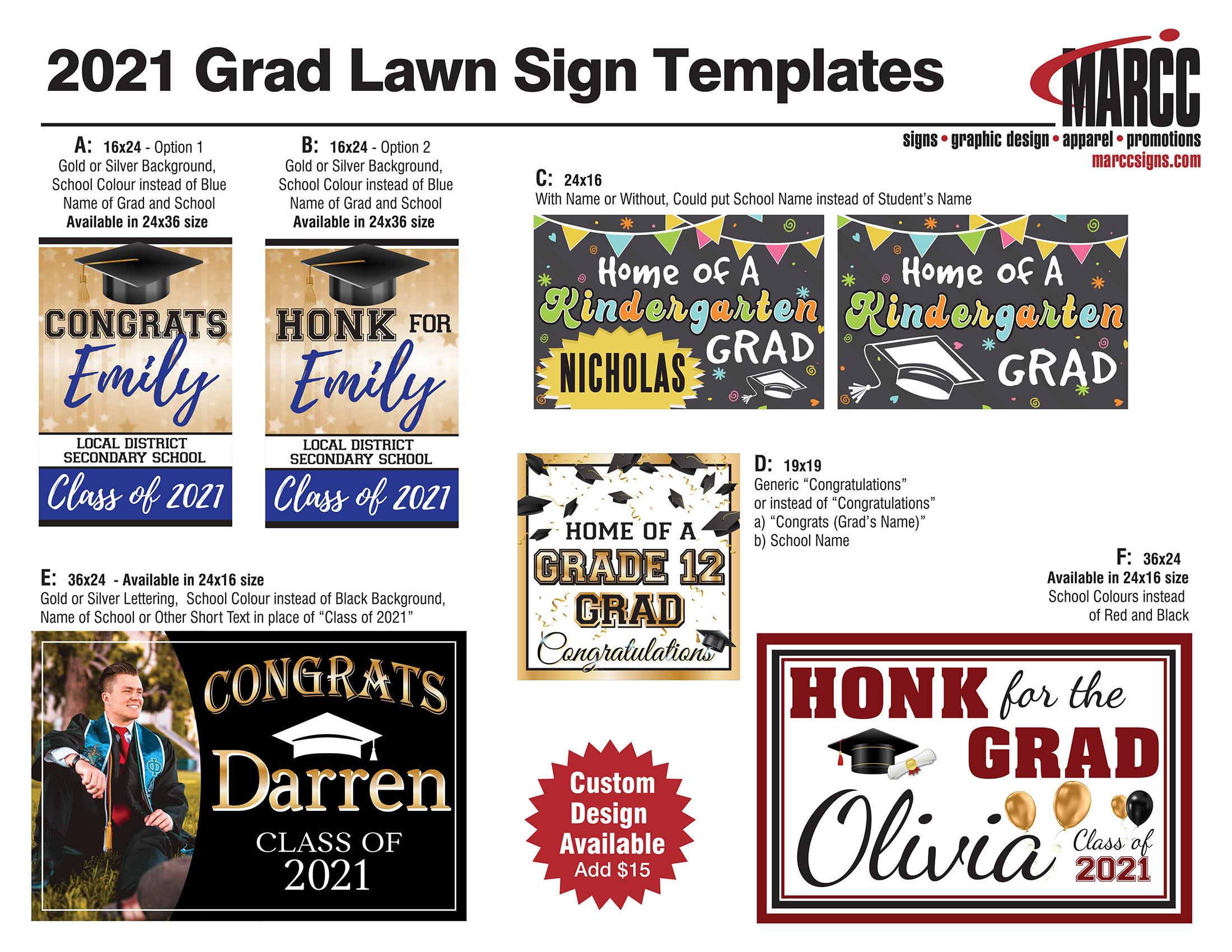 Grad Sign Templates 2021