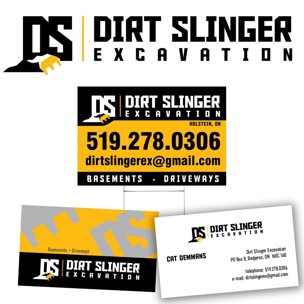 Dirt Slinger Excavation Branding