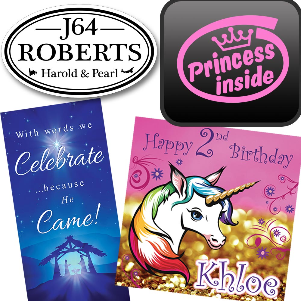 Personal Signs, Banners, Birthday Signs