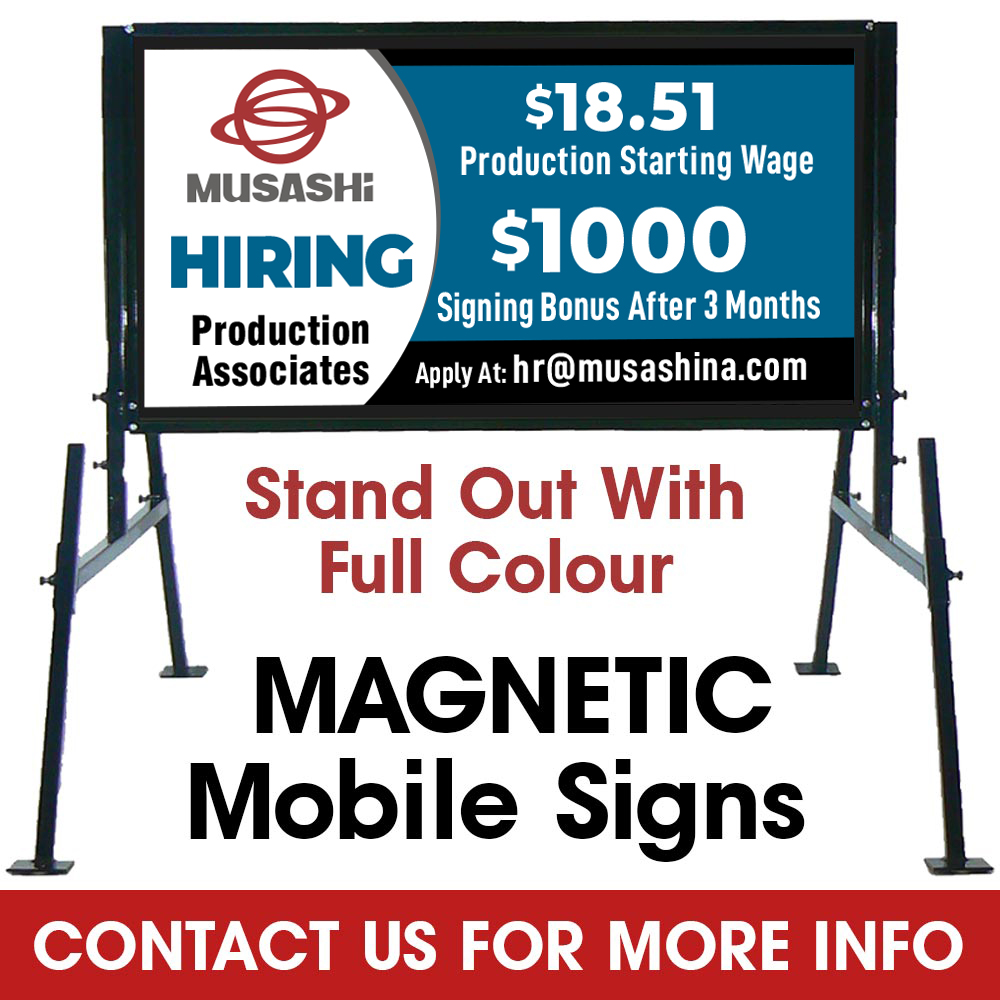Magnetic Mobile Signs Available